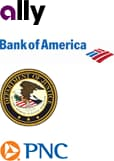 Ally, Bank of America, U.S. Dept of Justice, PNC