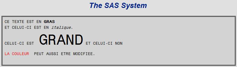 Depuis SAS, comment envoyer un email en insérant du texte formaté dans le corps du message ?