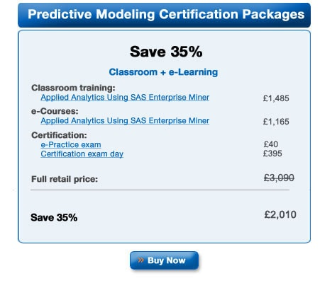 Predictive Modeling Certification Package
