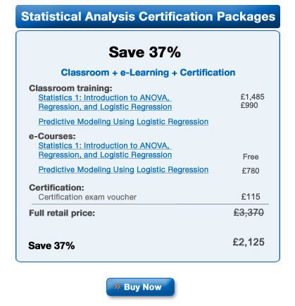 SAS Statistical Business Analysis credential