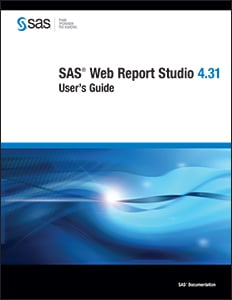 SAS® Web Report Studio 4.31: User's Guide
