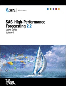 SAS® High-Performance Forecasting 2.2: User's Guide, Volumes 1 and 2