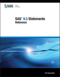 SAS® 9.3 Statements: Reference