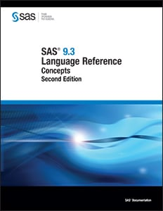 SAS® 9.3 Language Reference: Concepts, Second Edition