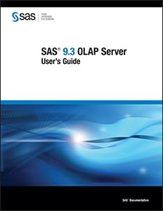 SAS® 9.3 OLAP Server: User's Guide