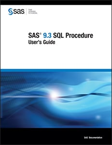 SAS® 9.3 SQL Procedure User's Guide