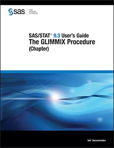 SAS/STAT® 9.3 User's Guide: The GLIMMIX Procedure (Chapter)