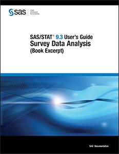 SAS/STAT® 9.3 User's Guide: Survey Data Analysis (Book Excerpt)