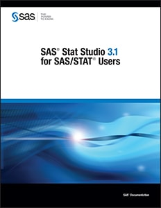 SAS® Stat Studio 3.1 for SAS/STAT® Users