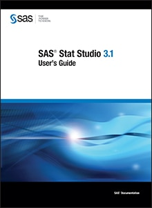 SAS® Stat Studio 3.1: User's Guide