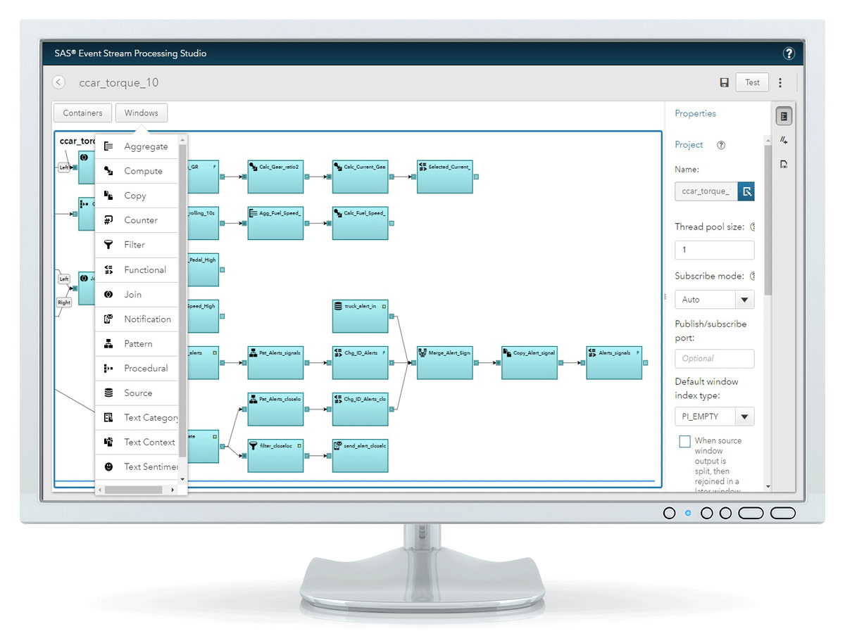 Real Time Decision Manager - Workflow screen on monitor