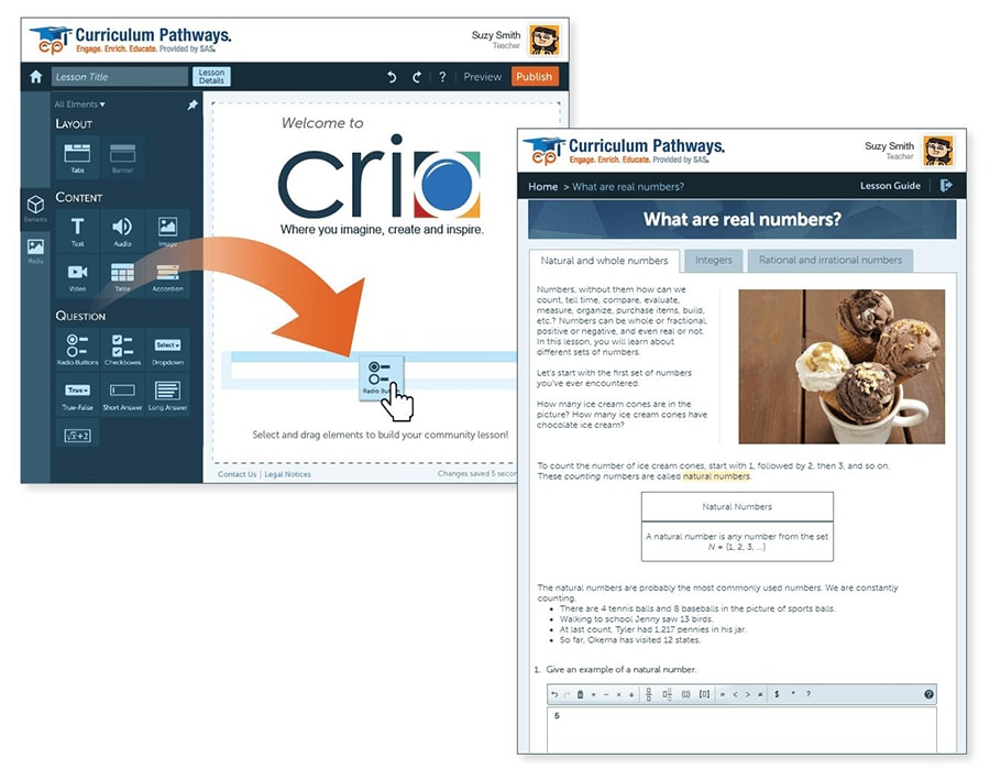With Crio™, teachers become rock-star lesson builders | SAS