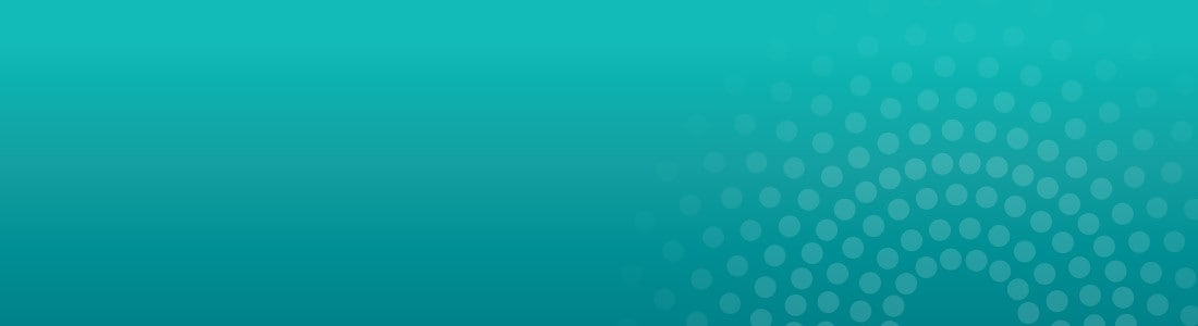 Teal background with radiance graphic