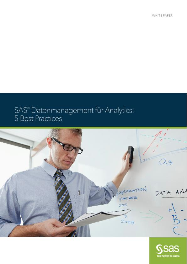 SAS® Datenmanagement für Analytics - 5 Best Practices