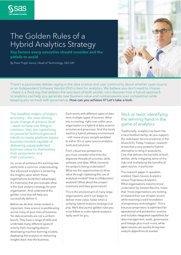 Viya pov golden rules of hybrid analytics strategy