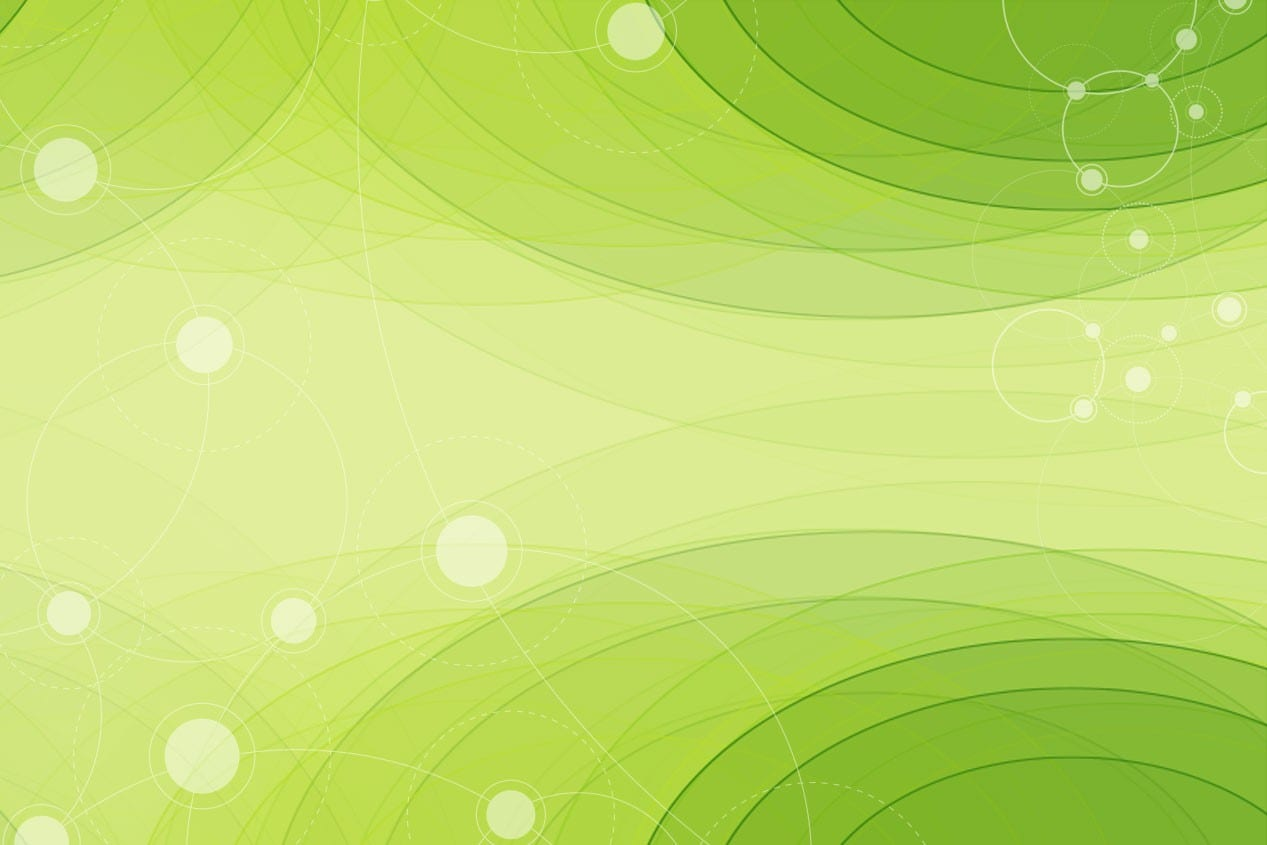 Abstract background - green with circle overlays