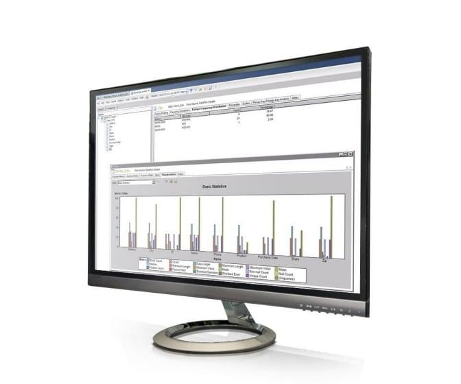 SAS Data Quality shown on desktop monitor