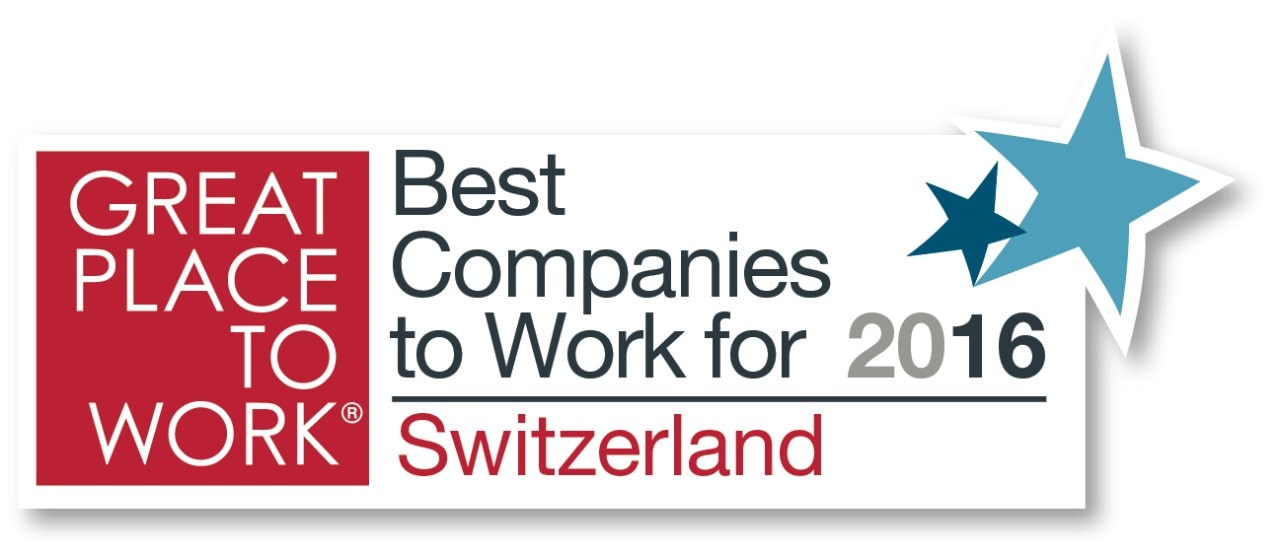 Logo: Great Place to Work - Best Companies to Work for 2106 - Switzerland