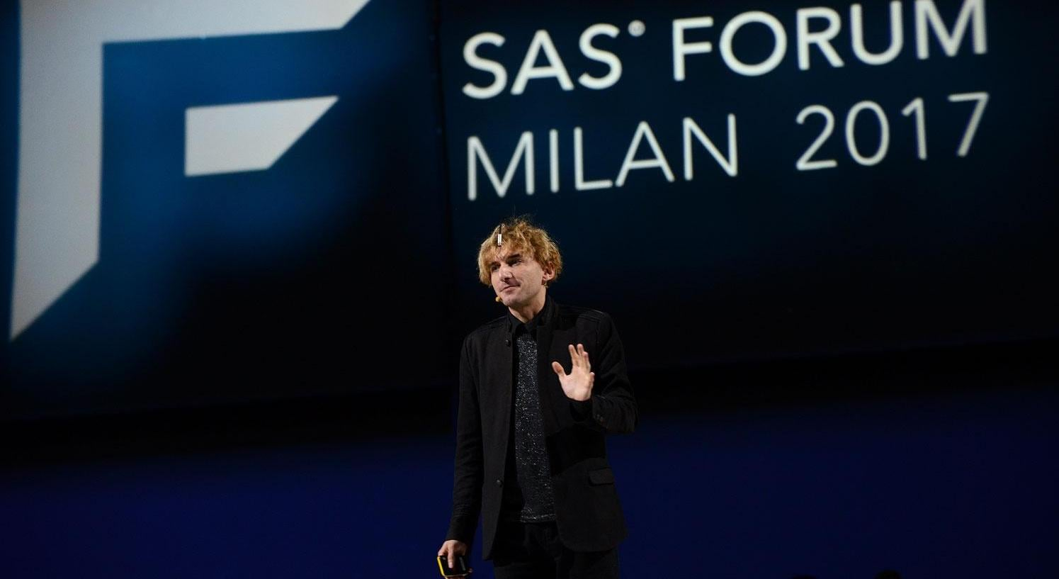 SAS Forum Milan 2017, Neil Harbisson guest