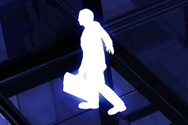 shadowy man with briefcase