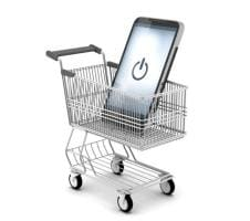 Shopping Cart with Mobile