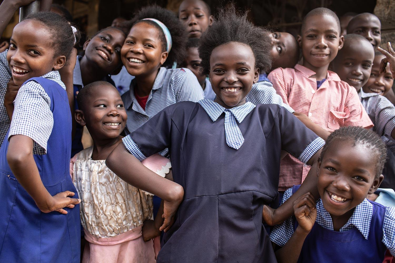 Young Kenyan Kids Smiling