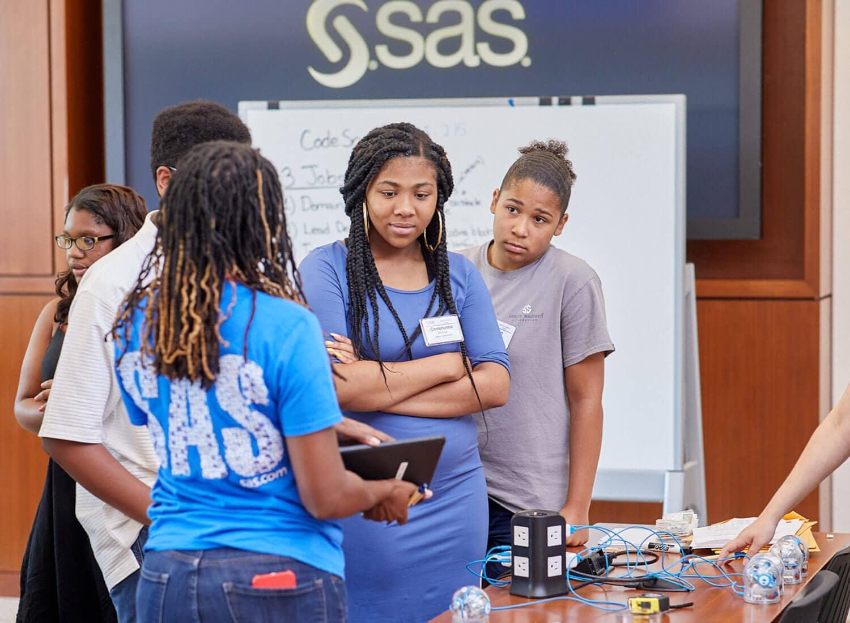 Students visiting SAS