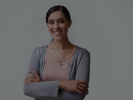 Young businesswoman smiling at camera