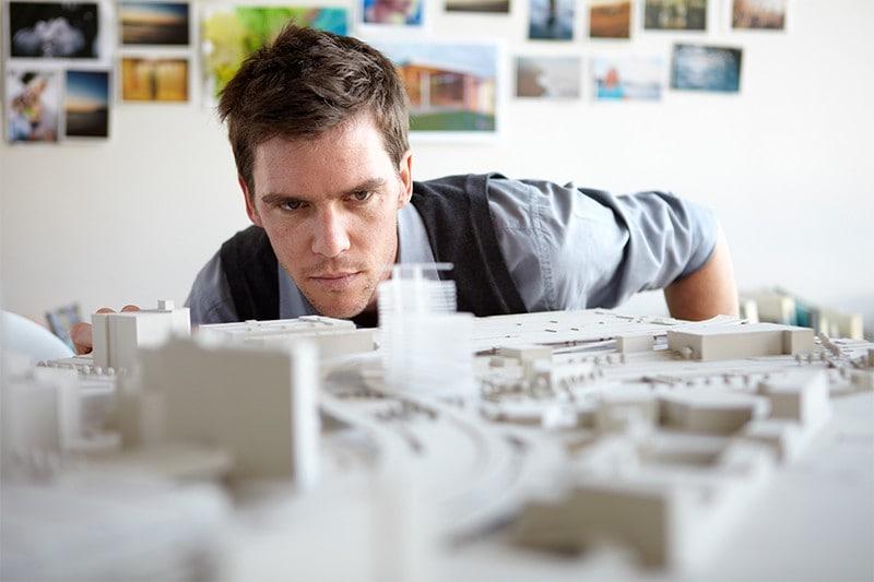 man-looking-at-model