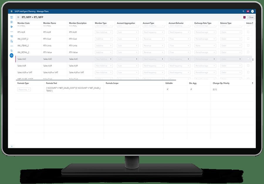 SAS Assortment Planning shown on desktop monitor
