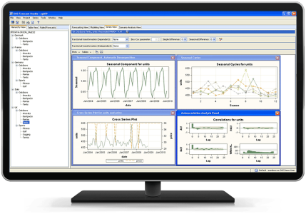 SAS Forecast Server shown on desktop monitor