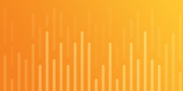 Orange to yellow gradient with bar chart illustration