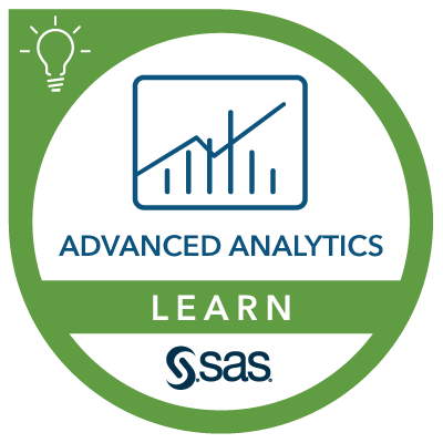 SAS Learn Badge for Advanced Analytics