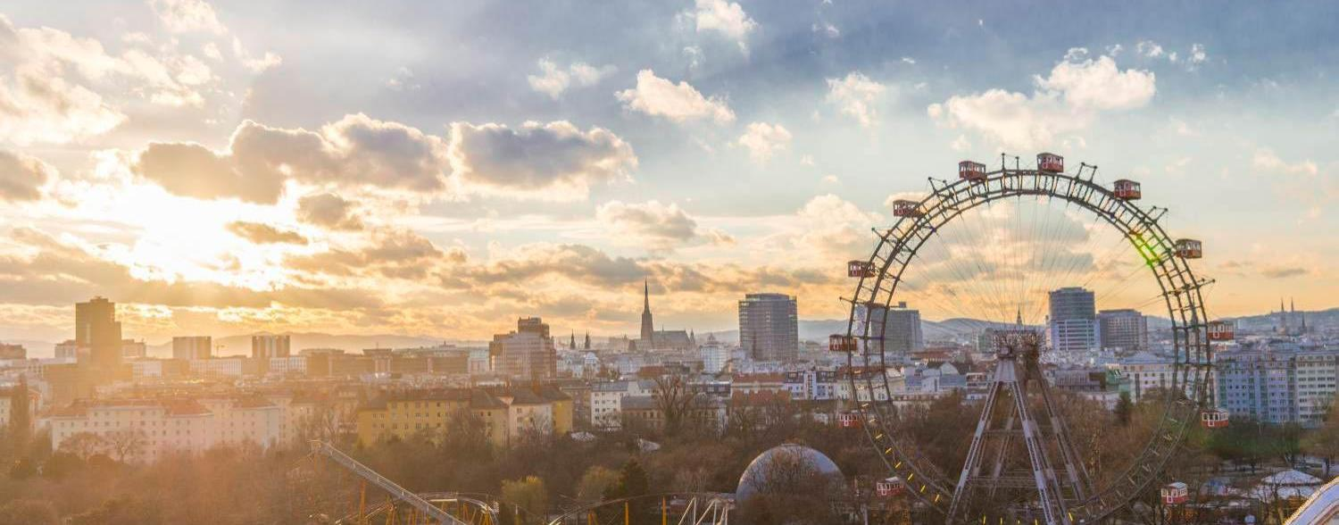 Sunset in Vienna Giant Ferris Wheel