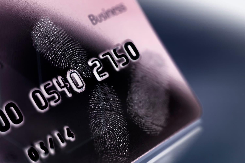 close up of credit card