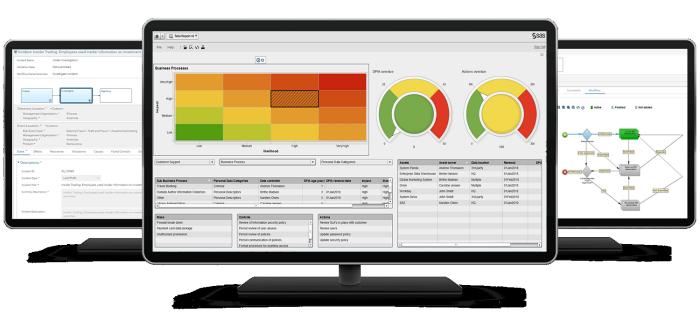 SAS® Governance and Compliance Manager - composite on desktop screens