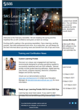 SAS Training Newsletter