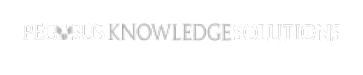 Pegasus Knowledge Solutions logo in white and gray