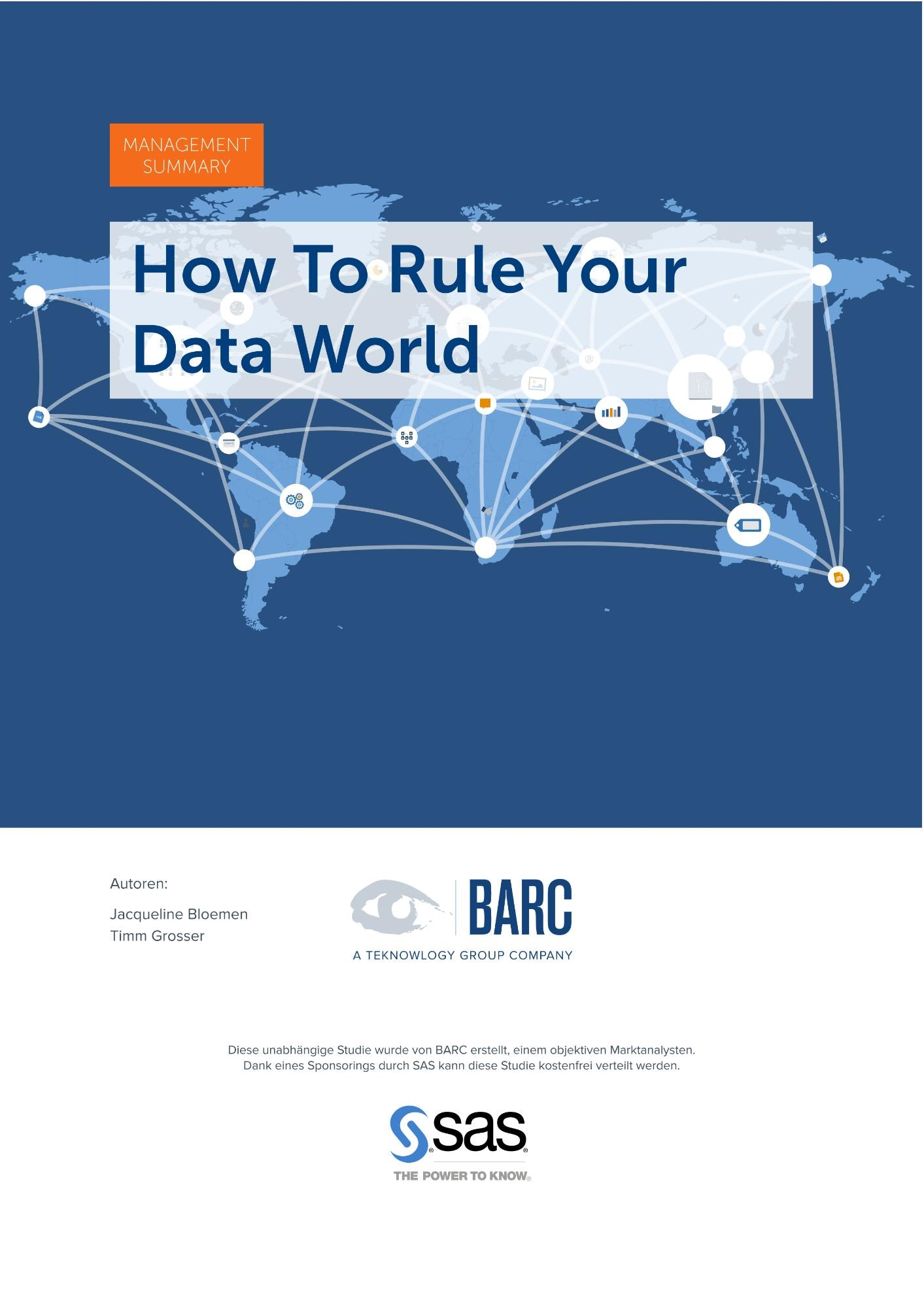 How To Rule Your Data World