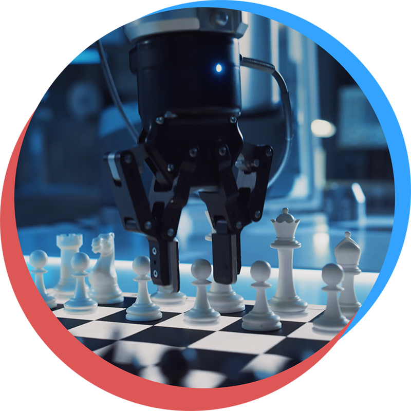 Robot playing chess for Curiosity Day