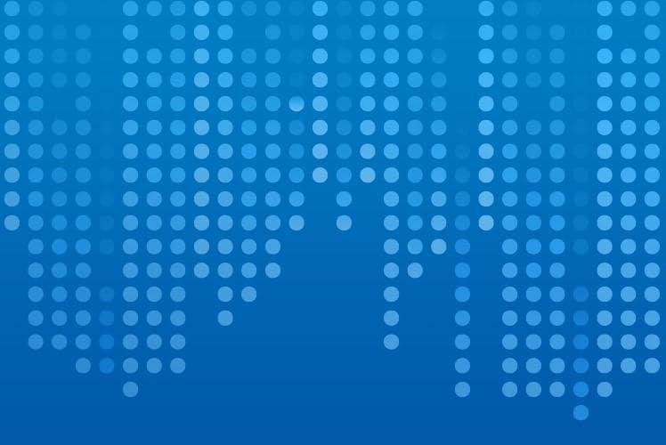 Muster aus blauen Punkten