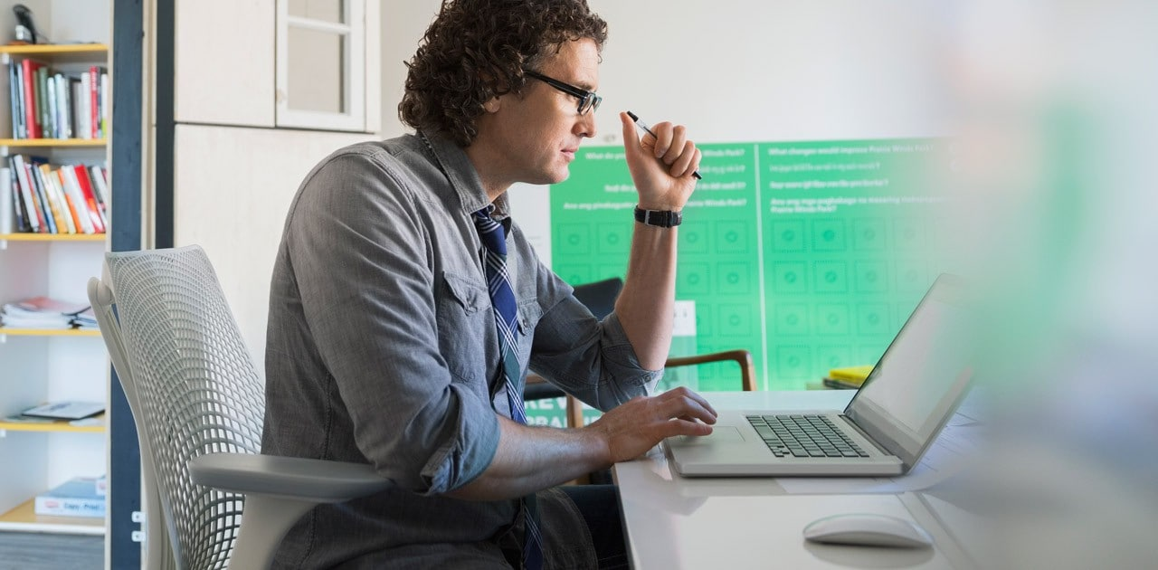 application developer working on laptop