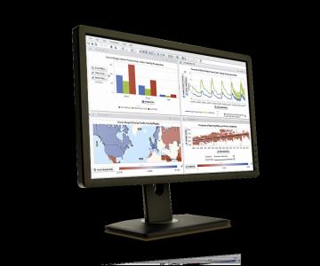 Example of visual analytics technology on desktop screen
