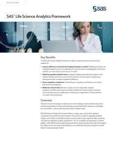SAS Life Science Analytics Framework fact sheet thumbnail