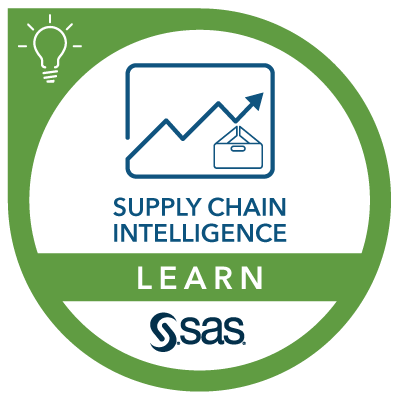 SAS Learn Badge for Supply Chain Intelligence