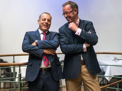 (L) Adrian Jones, Advisory Business Solutions Manager, SAS and Simon Gregory, EMEA business development director at Hortonworks