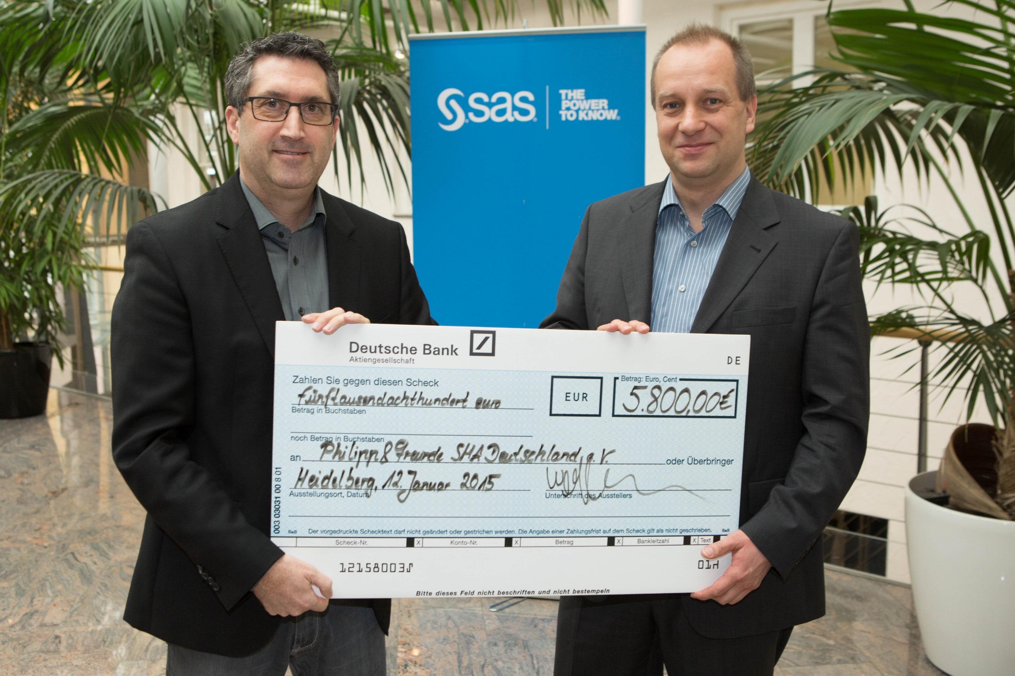 SAS Spendenübergabe