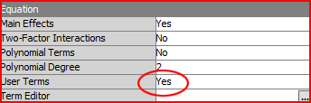 SAS® Enterprise Miner: User Terms Yes