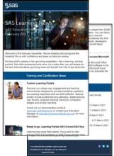 SAS Training Newsletter