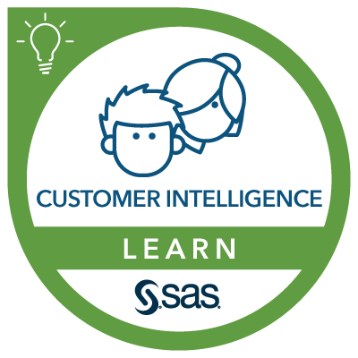 SAS Learn Badge for Customer Intelligence